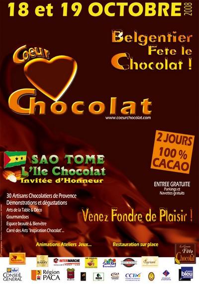 Affiche coeur chocolat 400x570